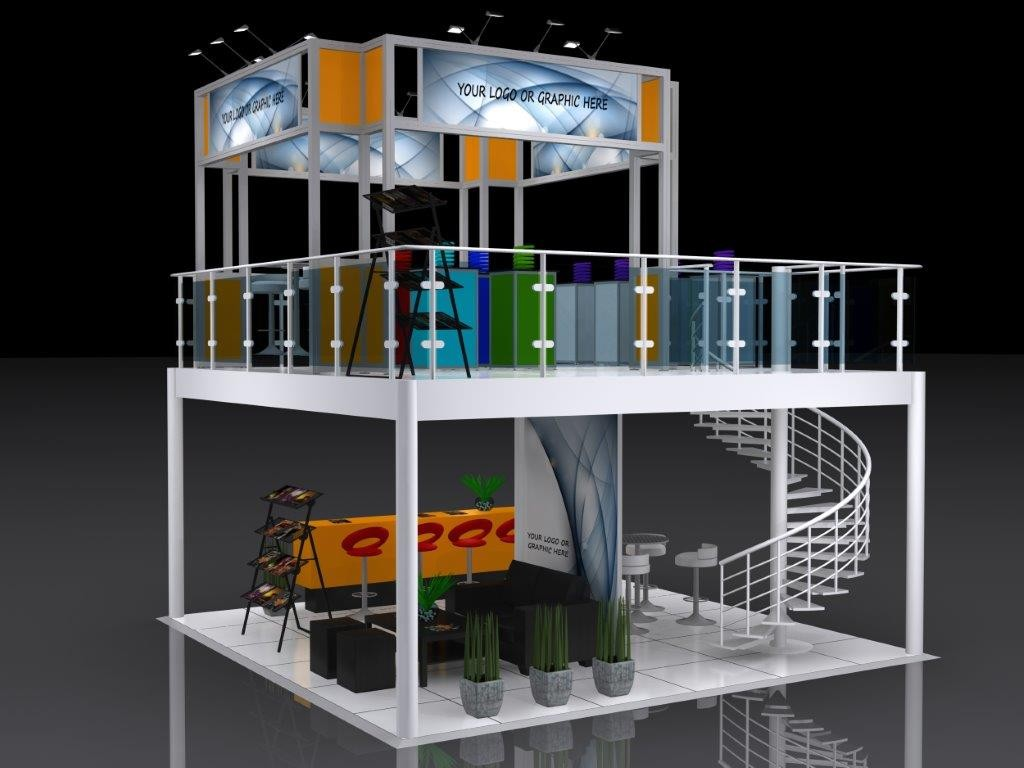 Custom Exhibition Stand Price : The double decker execative