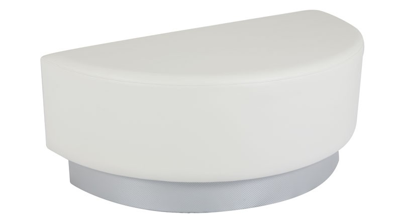 Ottoman - Half Circle - White