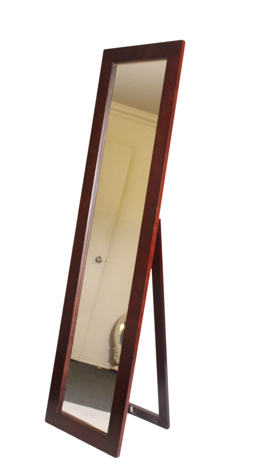 Cheval rectangular free standing full length floor mirror for Full length floor mirror