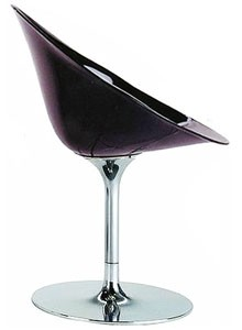 Eros by Kartell with S+ARCK. Swivel Chair Acrylic - Black
