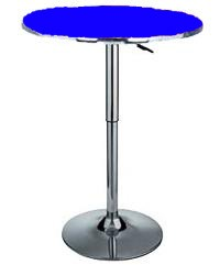 Delux adjustable gas lift bar table - Blue top