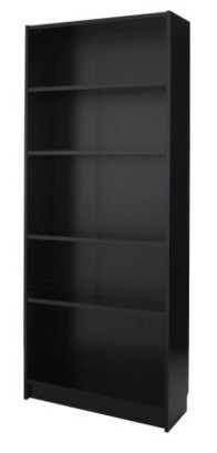 Euro bookshelf \ display shelving - Black