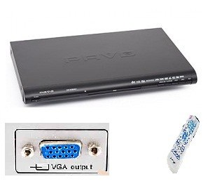 DVD Player, MP3, MPEG 4 with VGA out put