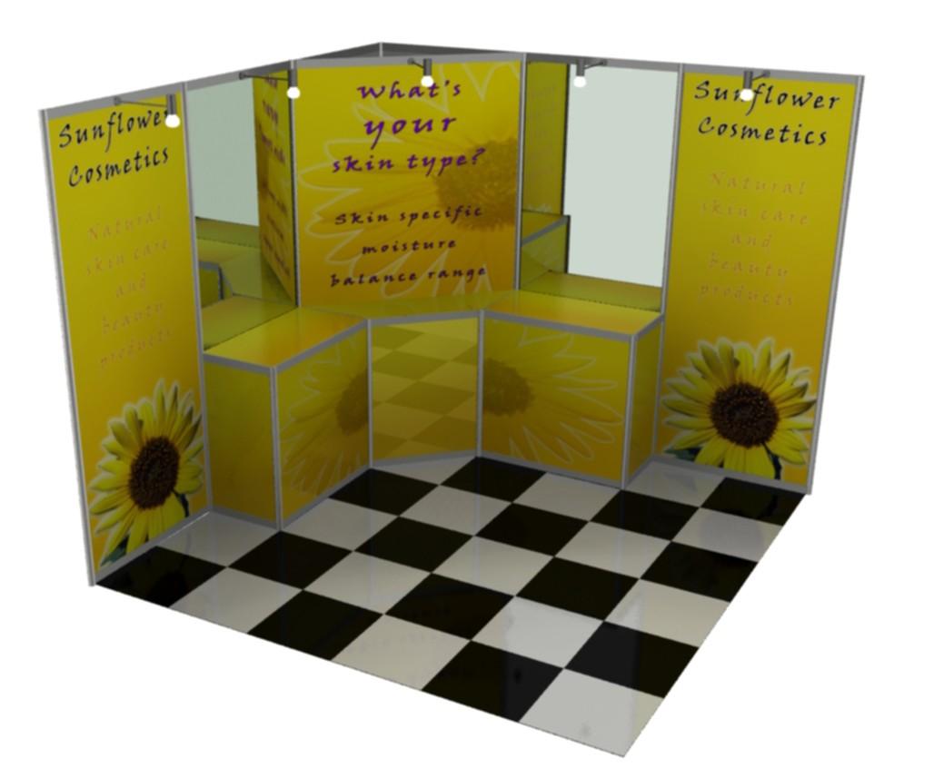 Excita 3x3 Corner Stand