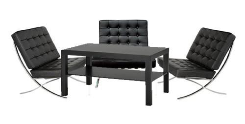 Luxury Barcelona Lounge Package - Black