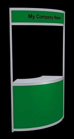 Tallboy Curved Information Counter - Green