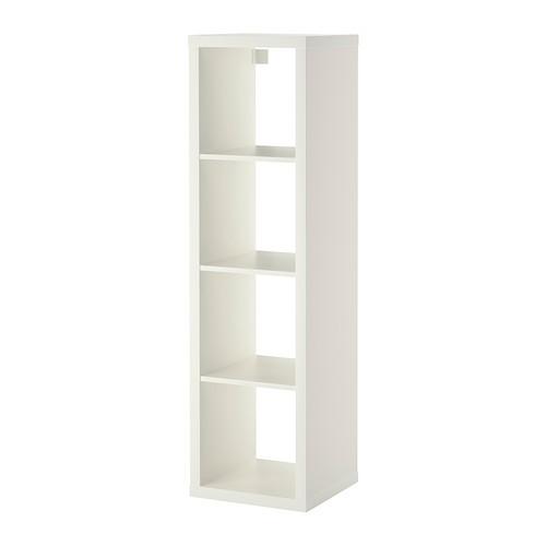 Euro single shelving display unit - white