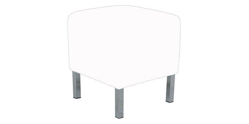 Small Ottoman Lounge - White