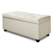 Ottoman Sitting bench -  white
