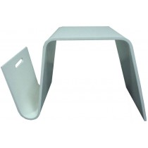 Hermann Coffee Table  \ Side table with Magazine Rack (Hi-gloss white)