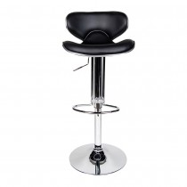 Euro Contemporary Gas Lift Bar Stools - Black
