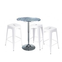 Expo Tolix High Stool Package - White