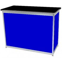 Octanorm Rectangular lockable counter -Blue