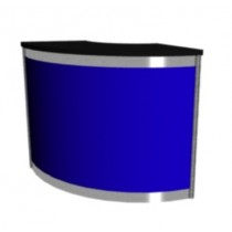 Octanorm Expo Curved counter - Blue