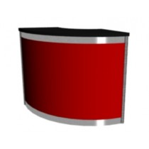 Octanorm Expo Curved counter - Red