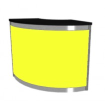 Octanorm Expo Curved counter - Yellow