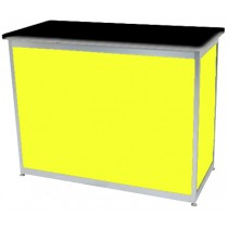 Octanorm Rectangular lockable counter - Yellow