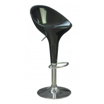 Euro Glossy Gas Lift Bar Stools - Black