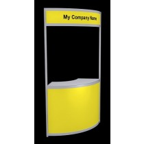 Tallboy Curved Information Counter - Yellow