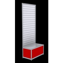 Free Standing Slatwall - Red