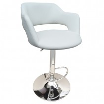 Boston Gas Lift Bar Stools - White