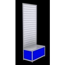 Free Standing Slatwall - Blue