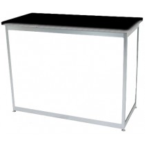 Octanorm Rectangular lockable counter - White