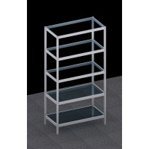 Free Standing Octanorm Modular Glass shelf Rack