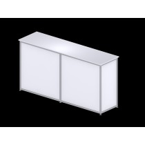 Large rectangular counter - White