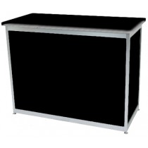 Octanorm Rectangular lockable counter -Black