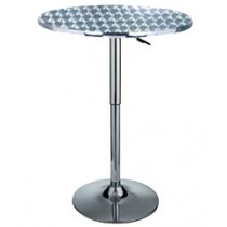 Delux adjustable aluminium gas lift bar table