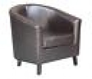 Super Classic Furnishings Tub Style Lounge Chair - Chocolate
