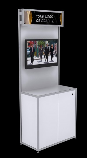 "Open Information Kiosk with 42"" TV"