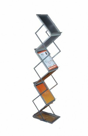 A4 Literature ZigZag Double sided brochure rack  stand