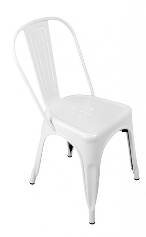 Expo Tolix Chair - Gloss White