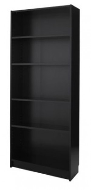 Euro bookshelf \ display shelving - Black