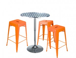 Expo Tolix High Stool Package - Orange