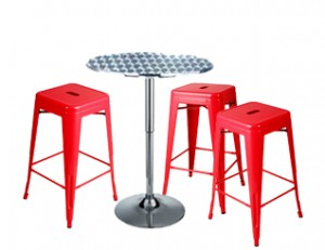 Expo Tolix High Stool Package - Red