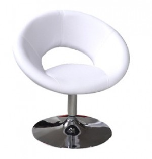 Classic Moon Style Lounge Chair - White