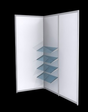 Octanorm Shelf Angled Kit - Glass