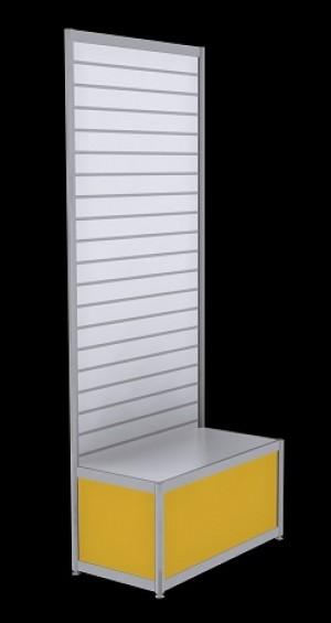 Free Standing Slatwall - Yellow