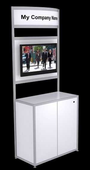 "Open Information Kiosk with 32"" TV"