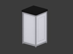 Deluxe Expo Display Module **Lockable** - Black