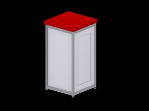 Deluxe Expo Display Module **Lockable** - Red