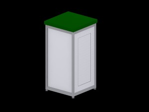 Deluxe Expo Display Module **Lockable** - Green