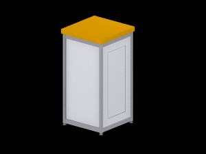 Deluxe Expo Display Module **Lockable** - Yellow