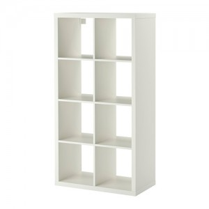 Euro double shelving display unit - white