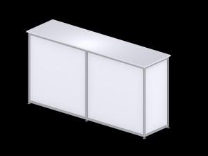 Large rectangular counter - White