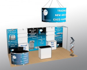 Presenter Plus 6x3 open space stand