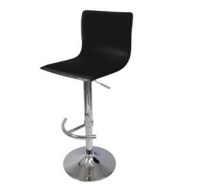 Euro Gas Lift High Bar Stool Chair - Black